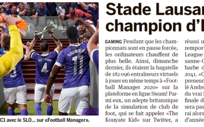 La presse suisse salue le titre de Champion d'Europe du SLO