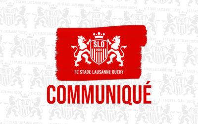 Informations importantes concernant les nouvelles directives fédérales contre le COVID et l'accueil au stade pour les matchs de la première équipe du SLO