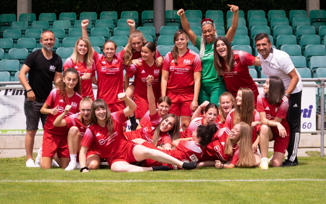 Les Lionnes promues en 3ème ligue ! – le foot féminin se développe au SLO